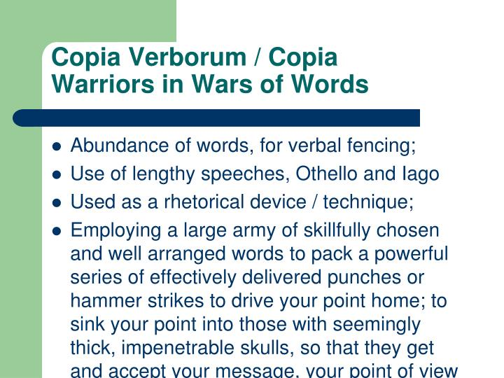 Copia Verborum / Copia