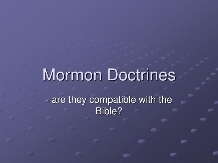 Mormon Doctrines