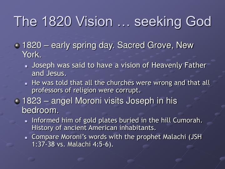 The 1820 Vision … seeking God