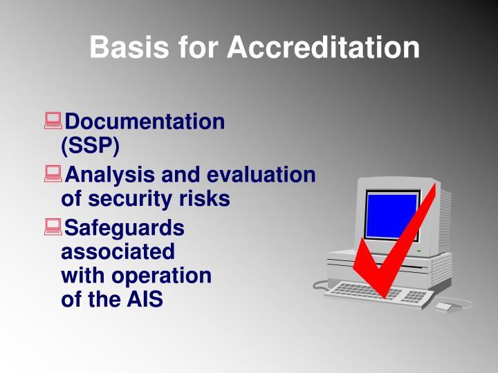 Basis for Accreditation