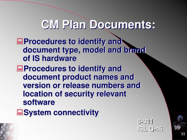 CM Plan Documents:
