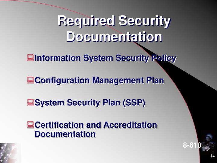 Required Security Documentation