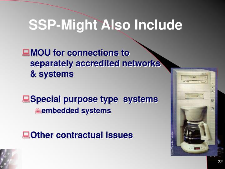 SSP-Might Also Include