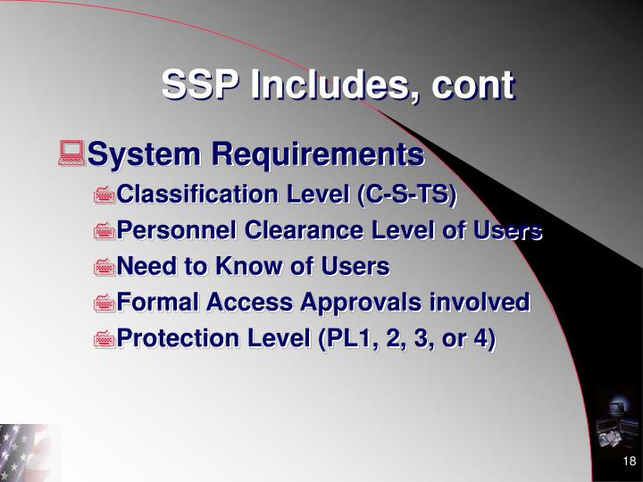 SSP Includes, cont