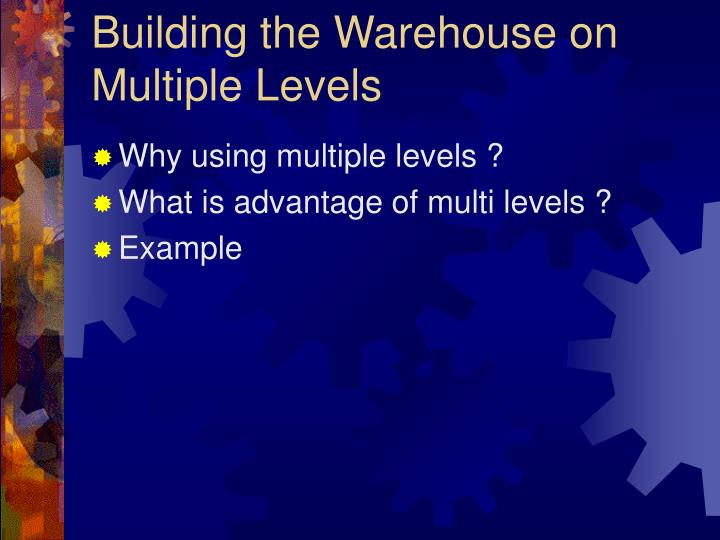 Building the Warehouse on Multiple Levels
