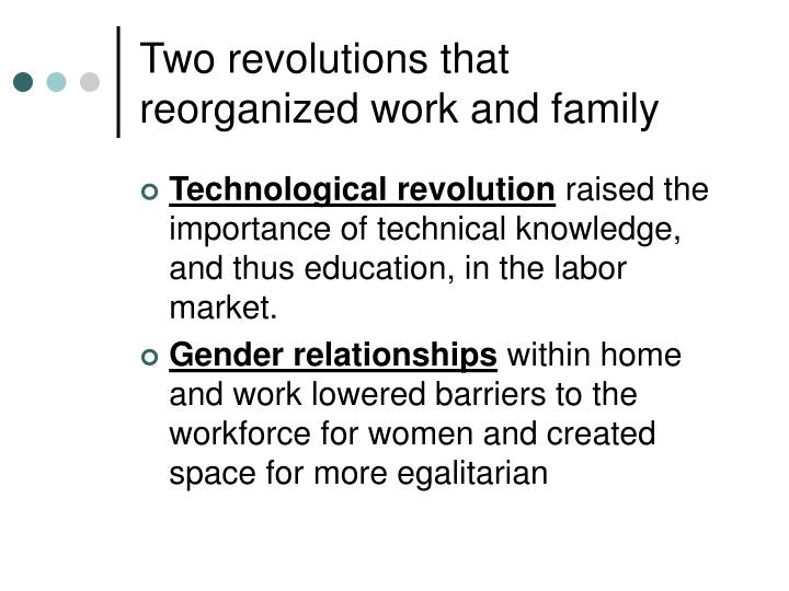 Two revolutions that reorganized work and family