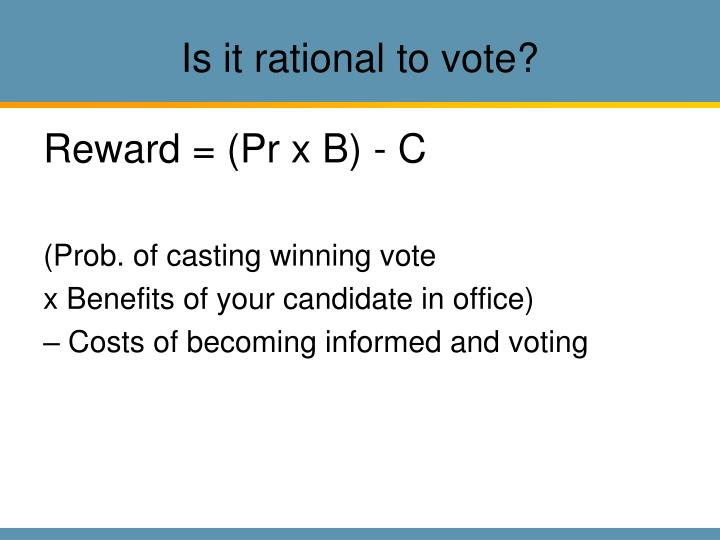 Is it rational to vote
