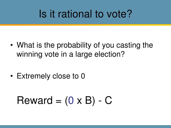 Is it rational to vote?