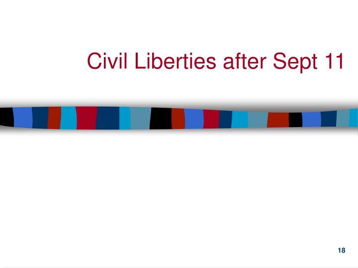 Civil Liberties after Sept 11