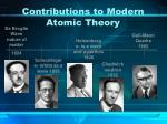 contributions to modern atomic theory