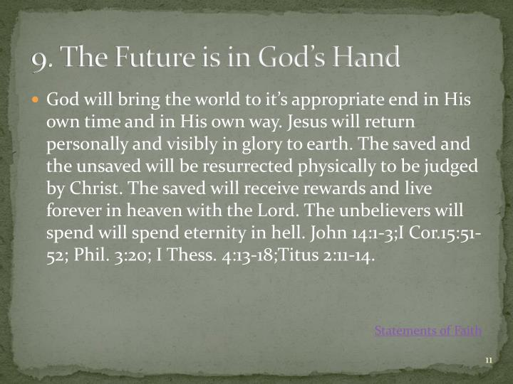 9. The Future is in God's Hand