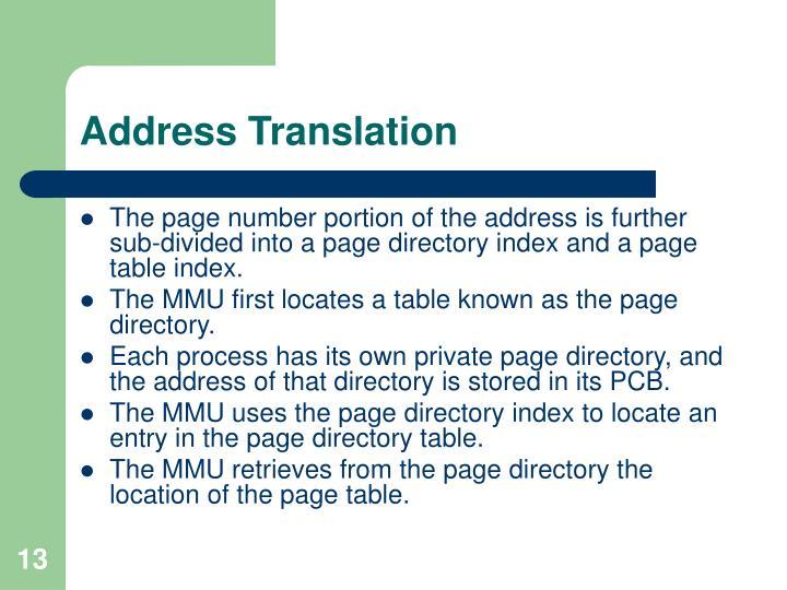 Address Translation