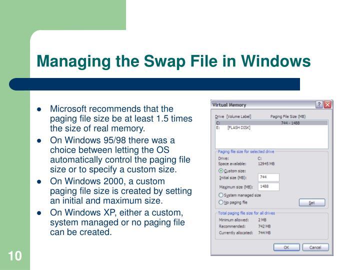 Managing the Swap File in Windows