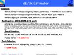 de dx estimator