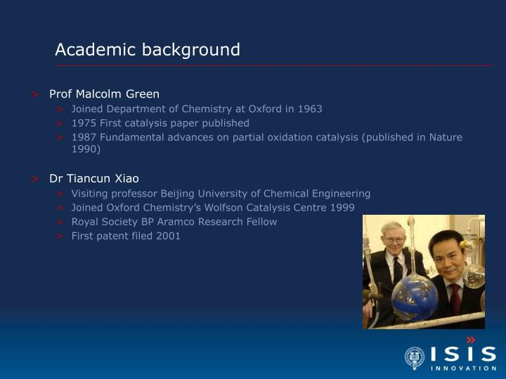 Academic background