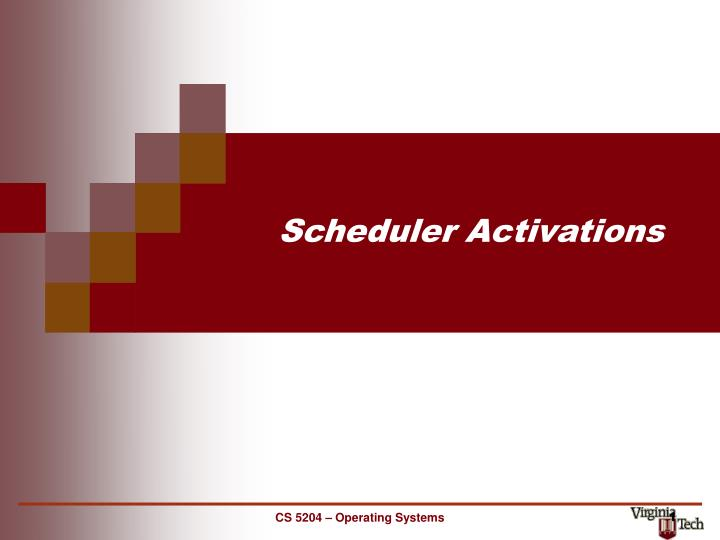 scheduler activations n.