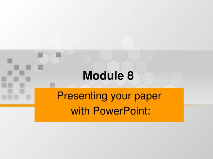 presenting your paper with powerpoint n.
