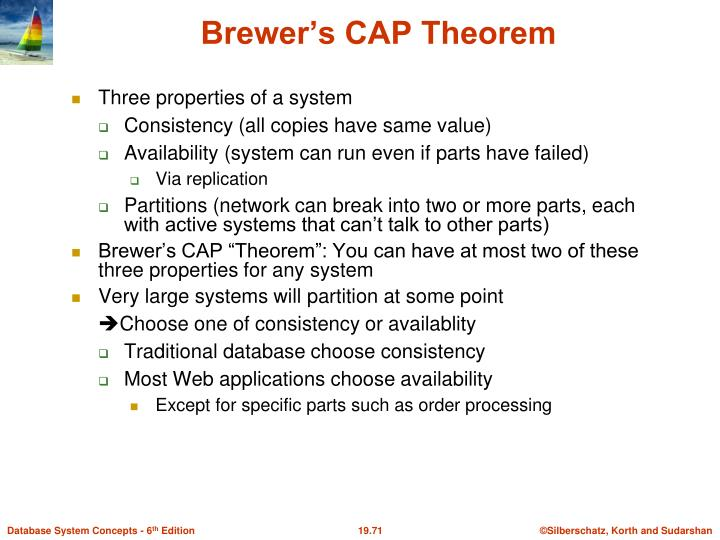 Three properties of a system