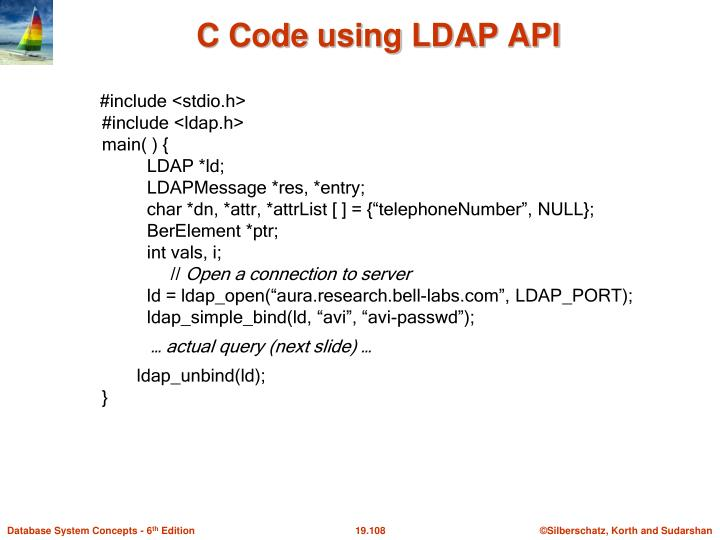 C Code using LDAP API