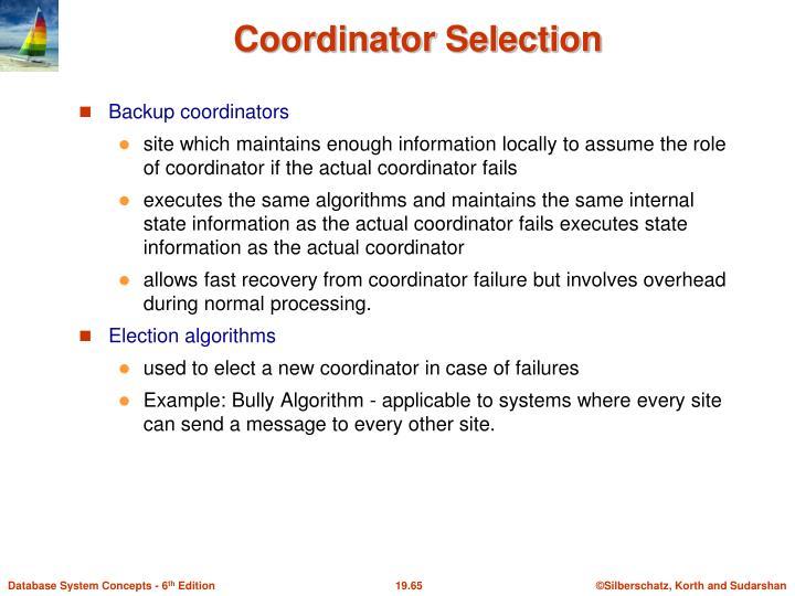 Backup coordinators