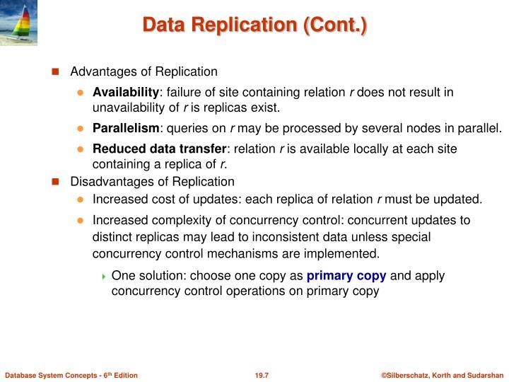 Advantages of Replication