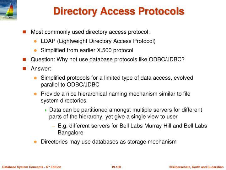 Directory Access Protocols