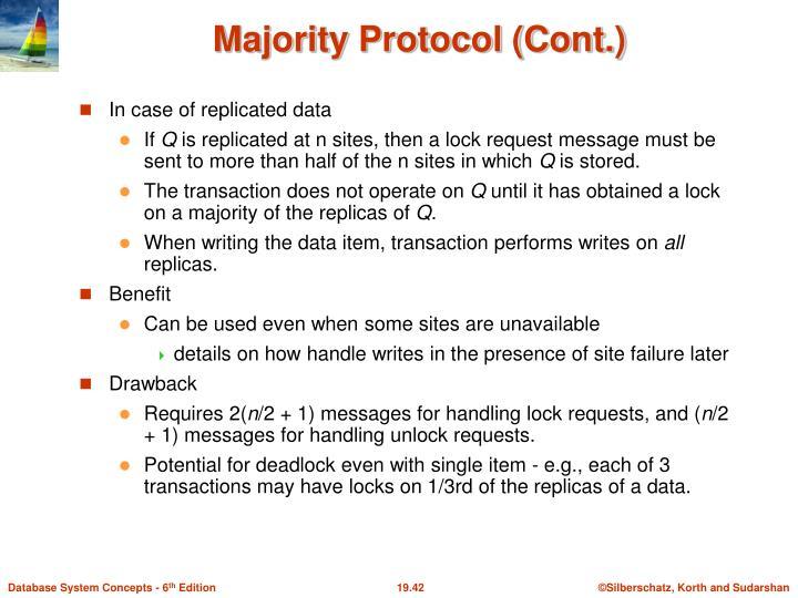 In case of replicated data