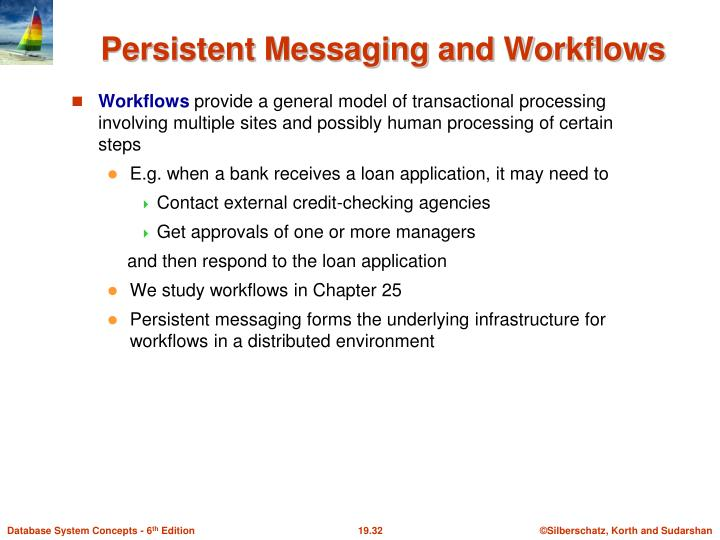 Persistent Messaging and Workflows