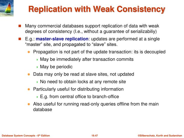 Replication with Weak Consistency