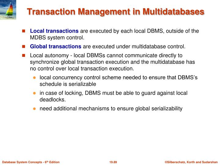 Transaction Management in Multidatabases