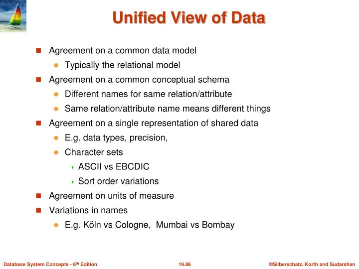 Agreement on a common data model