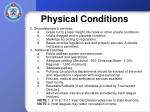 physical conditions1