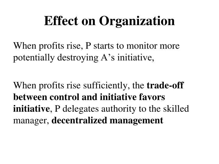 Effect on Organization