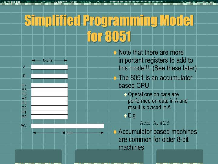 Simplified Programming Model for 8051