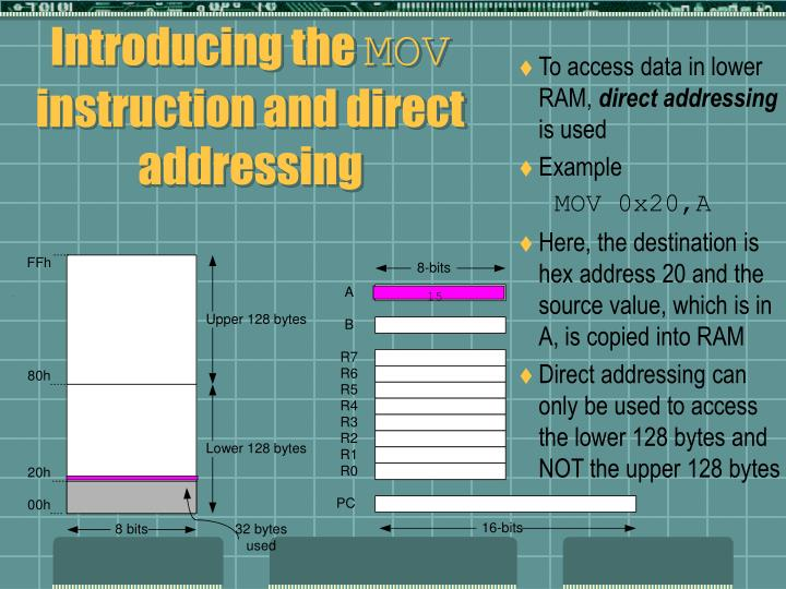 To access data in lower RAM,