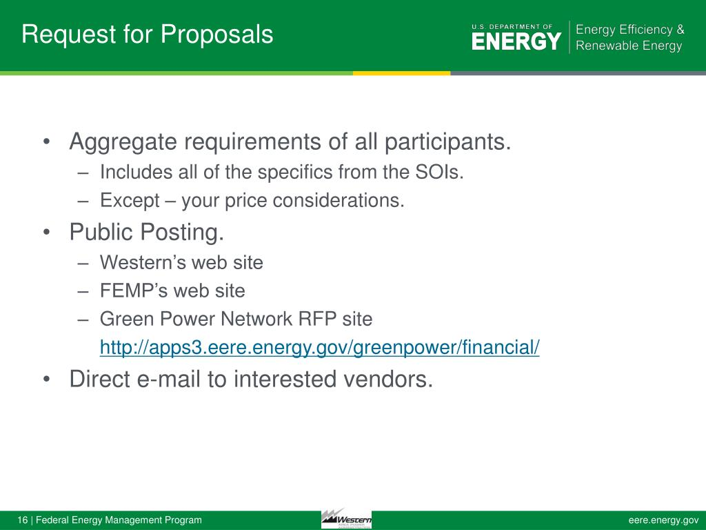 PPT - Western Area Power Administration's FY 2013 Renewable