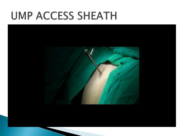 UMP ACCESS SHEATH