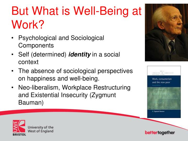 But What is Well-Being at Work?