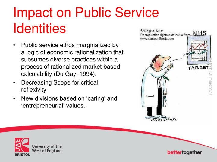 Impact on Public Service Identities