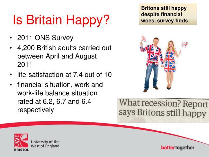 Britons still happy despite financial woes, survey finds