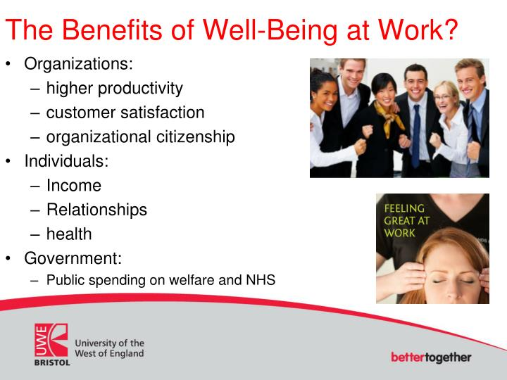 The Benefits of Well-Being at Work?