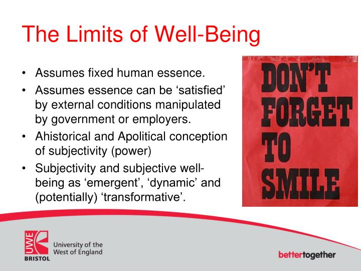The Limits of Well-Being