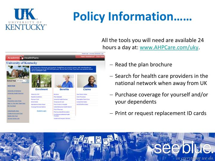 Policy Information……