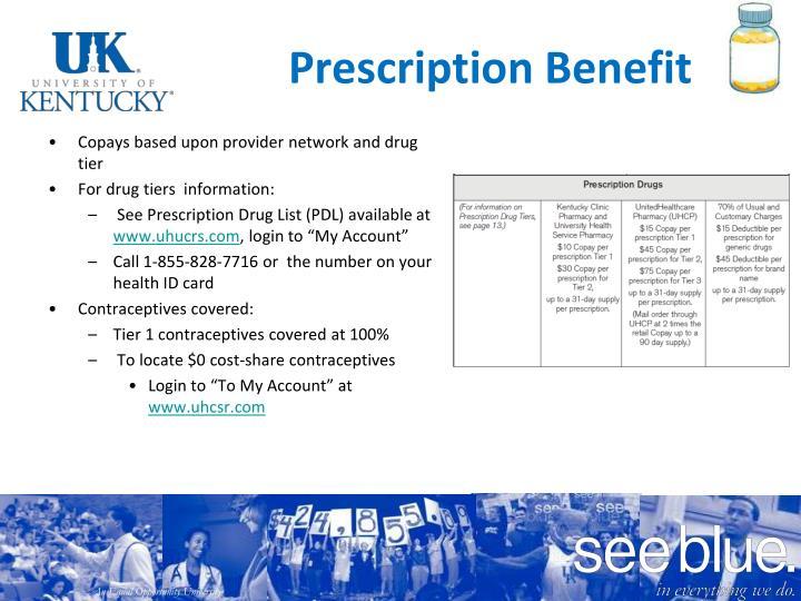 Prescription Benefit