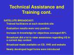 technical assistance and training cont2