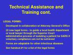 technical assistance and training cont3