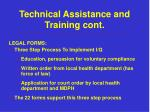 technical assistance and training cont4
