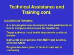 technical assistance and training cont5