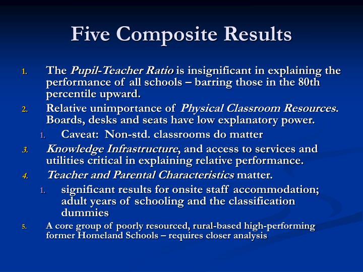 Five Composite Results