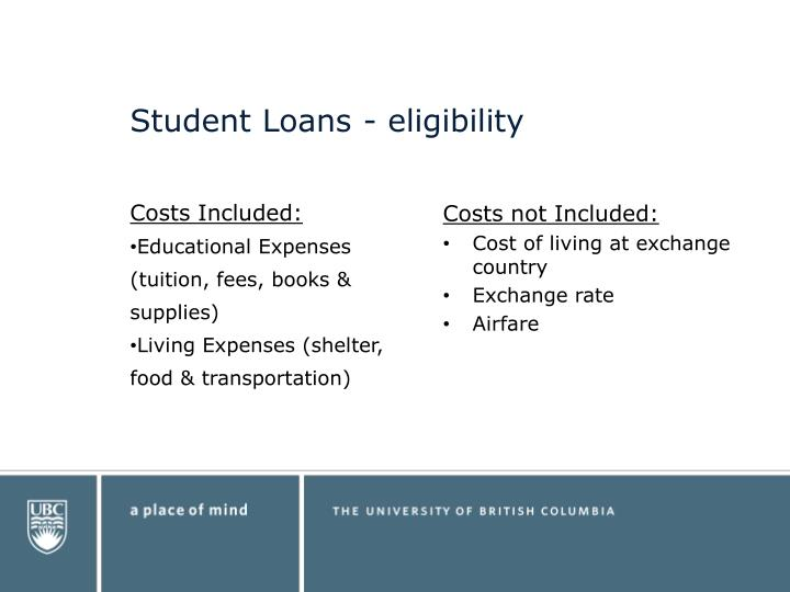 Student Loans - eligibility